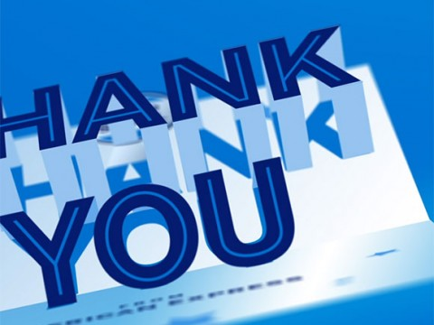"AMEX – Social ""Thank You""  Card"